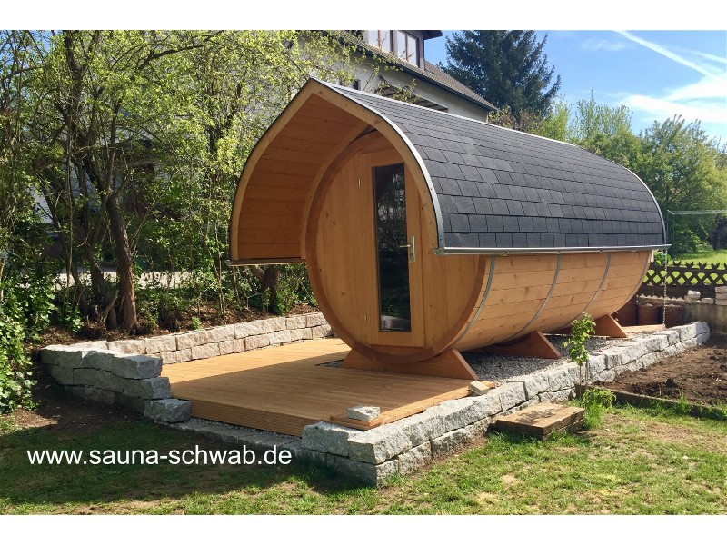 schwab zimmerei stellt vollholz blockbohlen gartensauna fasssauna aussensauna her. Black Bedroom Furniture Sets. Home Design Ideas